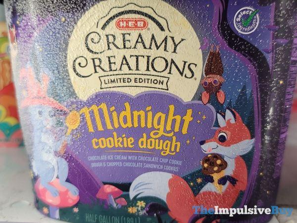 H E B Creamy Creations Limited Edition Midnight Cookie Dough Half Gallon