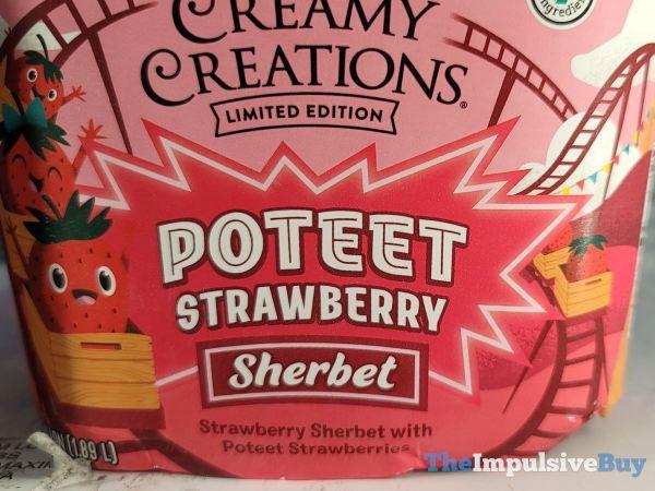 H E B Creamy Creations Limited Edition Poteet Strawberry Sherbet Half Gallon