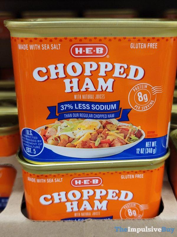 H E B Chopped Ham with 37 Less Sodium