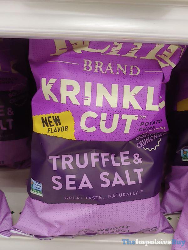 Kettle Brand Krinkle Cut Truffle  Sea Salt Potato Chips