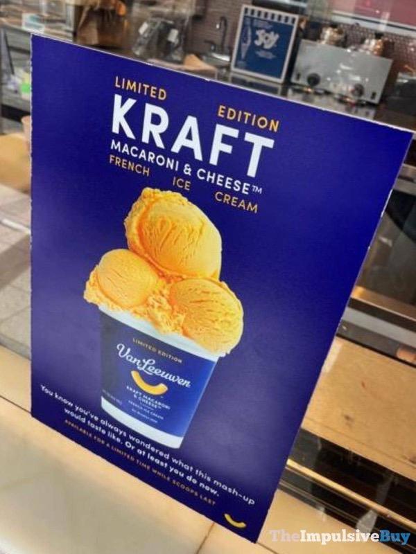 Kraft Mac  Cheese Ice Cream Sign