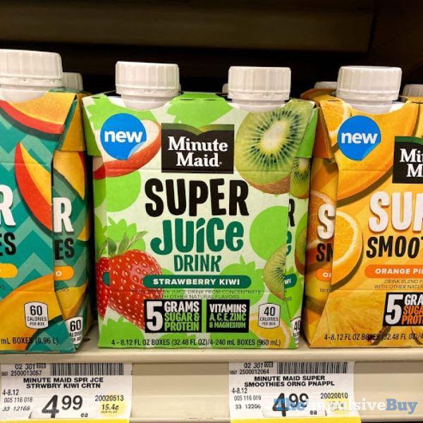 Minute Maid Strawberry Kiwi Super Juice Drink