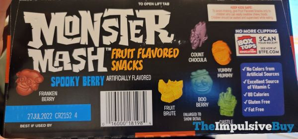 Monster Mash Spooky Berry Fruit Flavored Snacks Flavors