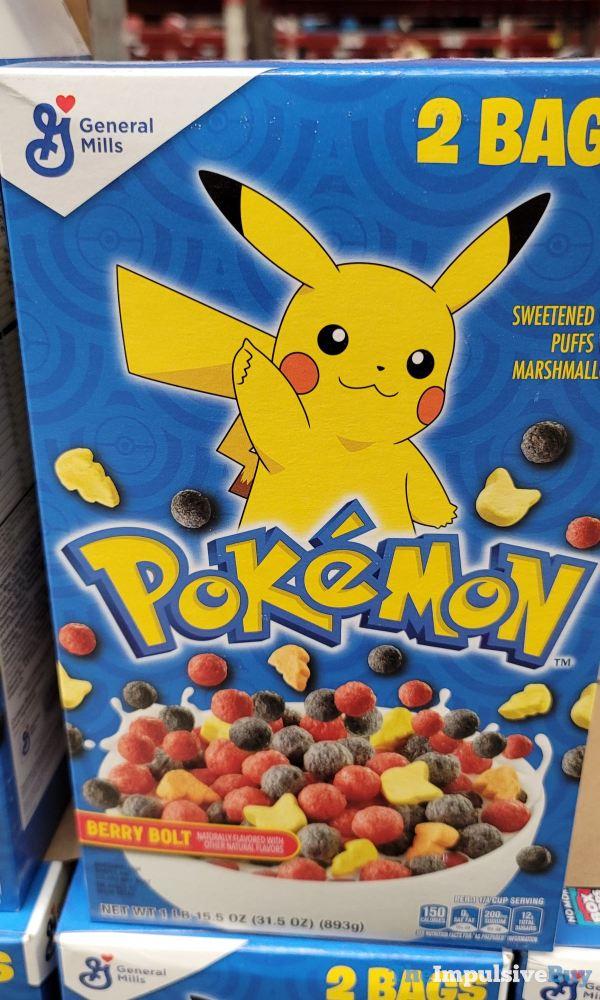 Pokemon Berry Bolt Cereal Blue Box Design