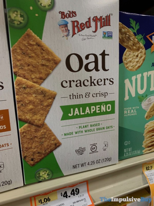 Bob s Red Mill Jalapeno Oat Crackers