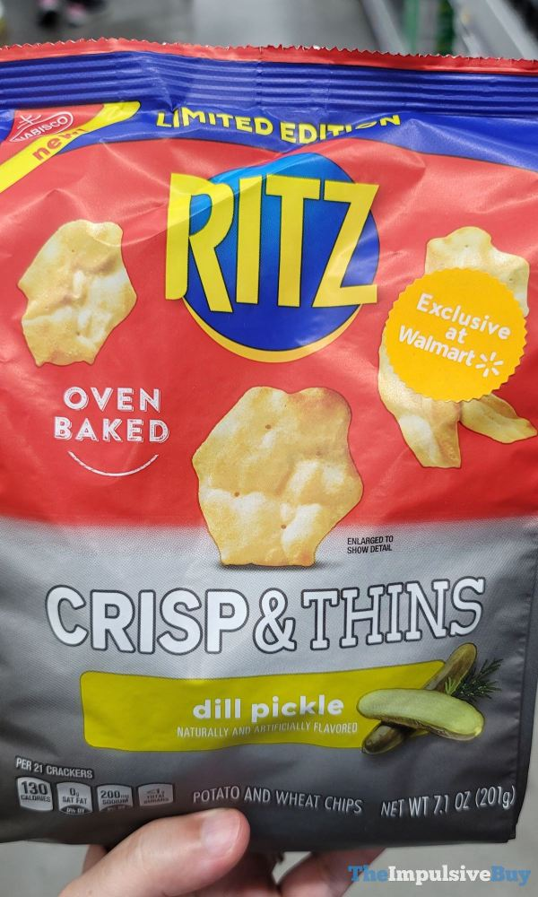 Limited Edition Ritz Crisp  Thins Dill Pickle