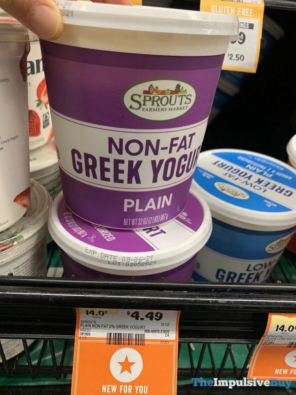 Sprouts Plain Non Fat Greek Yogurt
