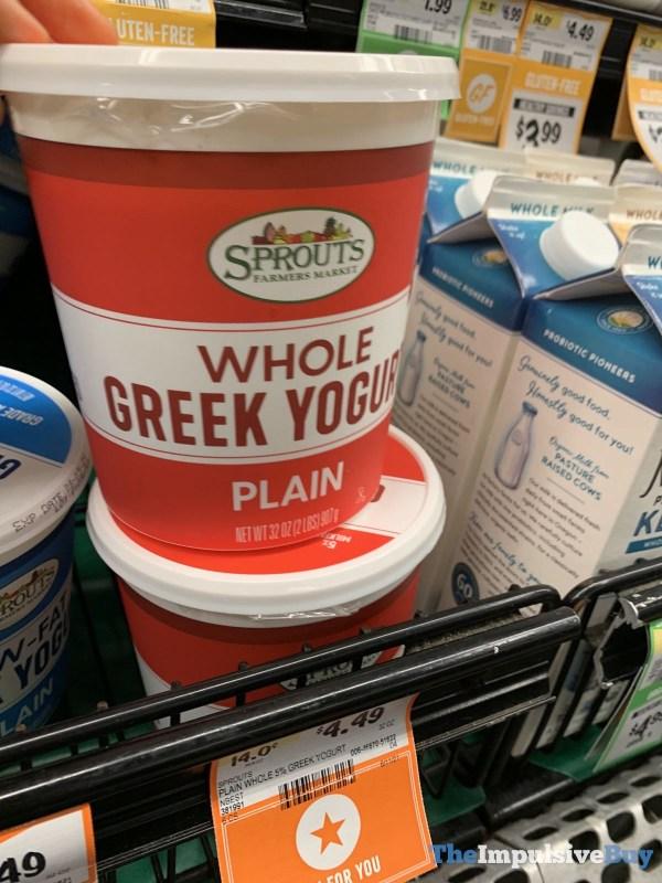 Sprouts Plain Whole Greek Yogurt