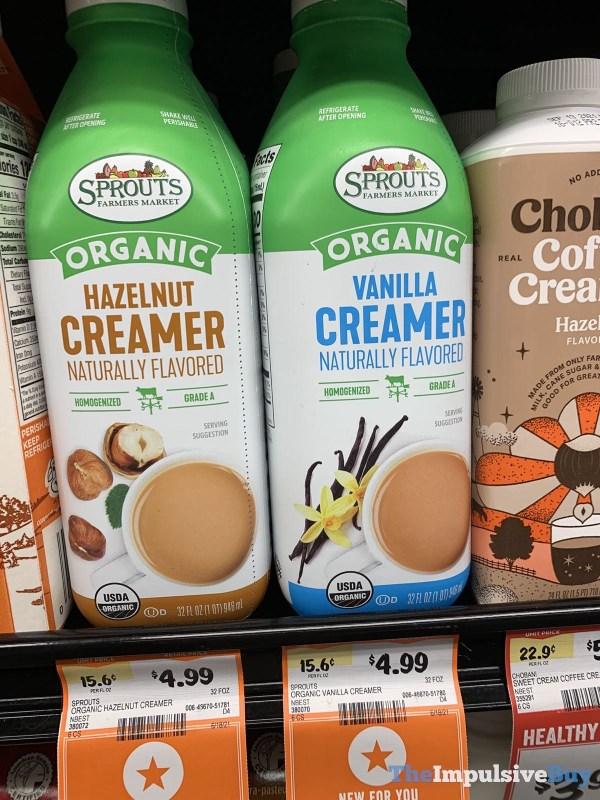 Sprouts Organic Hazelnut and Vanilla Creamer