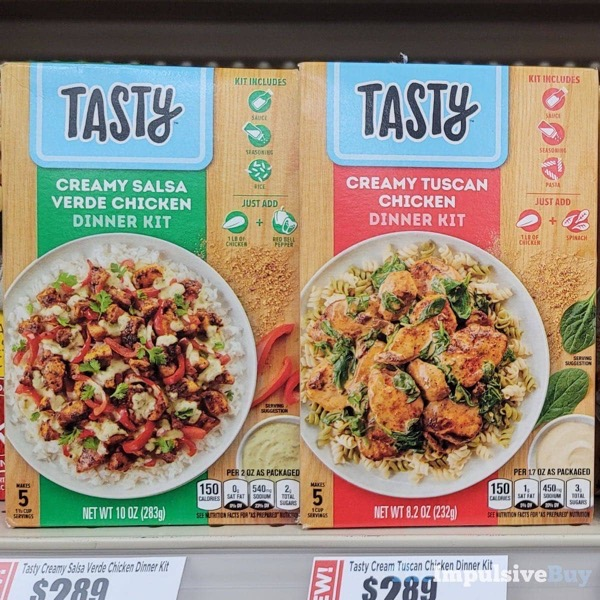 Tasty Dinner Kits  Creamy Salsa Verde Chicken and Creamy Tuscan Chicken