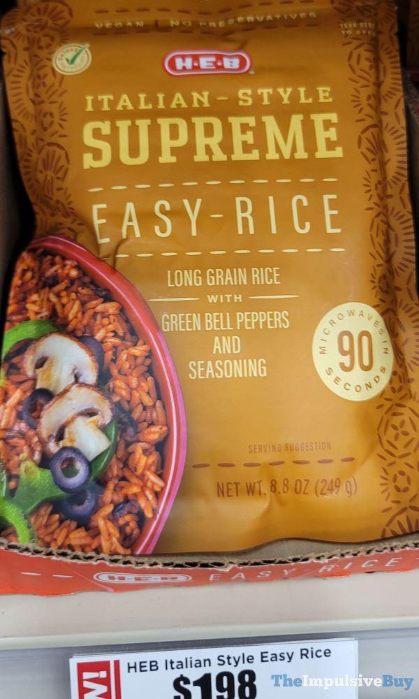 H E B Italian Style Supreme Easy Rice