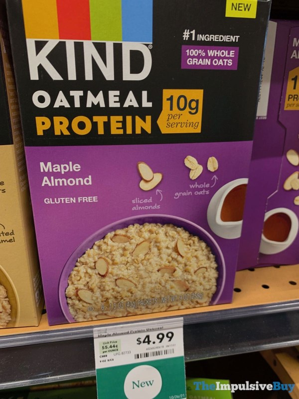 KIND Oatmeal Protein Maple Almond