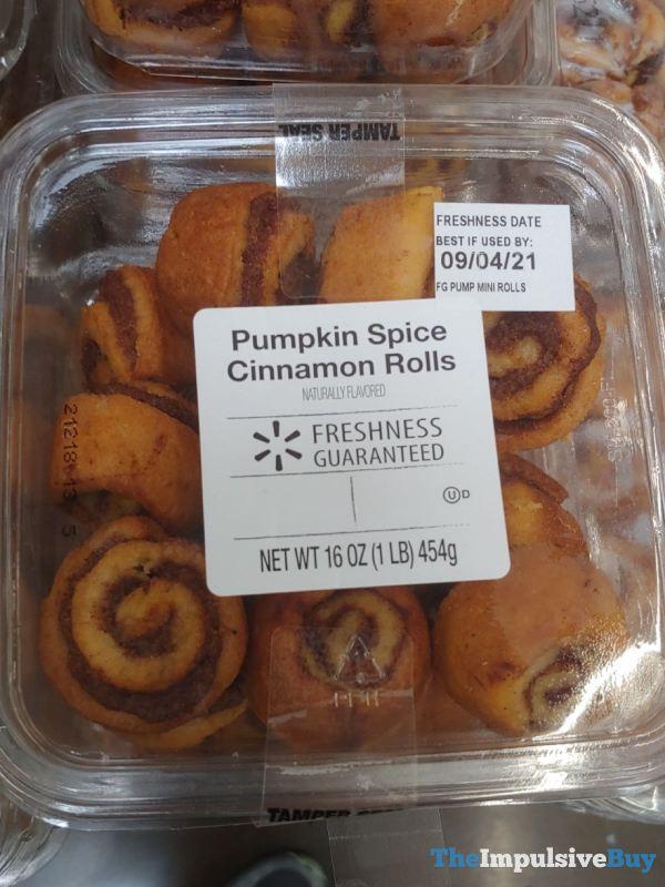 Walmart Pumpkin Spice Cinnamon Rolls