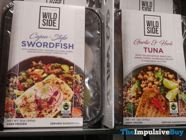 Wild Side Cajun Style Swordfish and Garlic  Herb Tuna