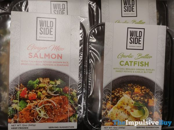 Wild Side Ginger Miso Salmon and Garlic Butter Catfish