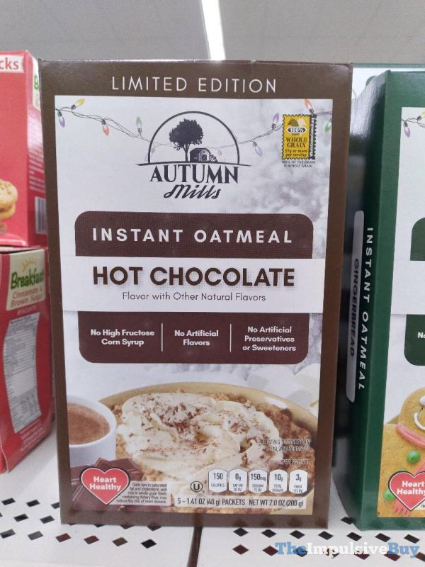 Autumn Mills Limited Edition Hot Chocolate Instant Oatmeal