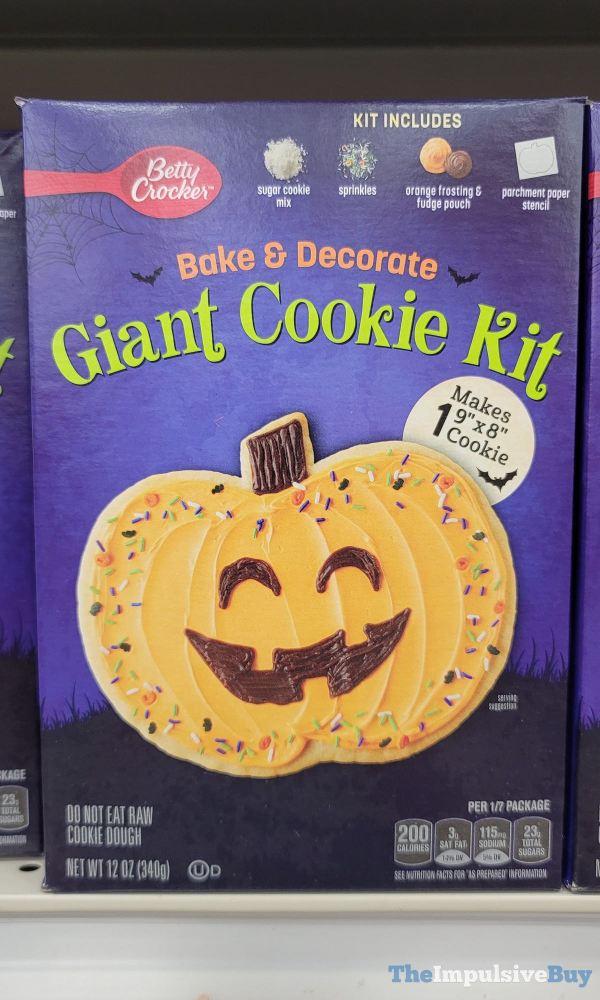 Betty Crocker Halloween Bake  Decorate Giant Cookie Kit