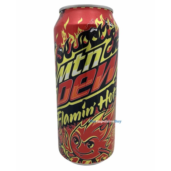 Flamin Hot Mtn Dew Can