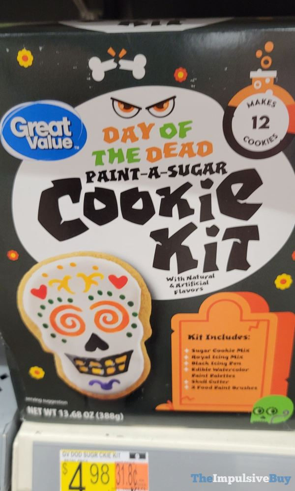 Great Value Day of the Dead Paint A Sugar Cookie Kit
