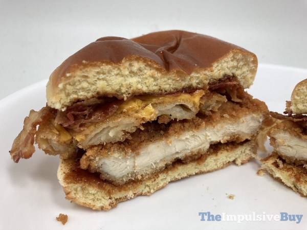 Jack in the Box BBQ Cluck Deluxe Sandwich Split