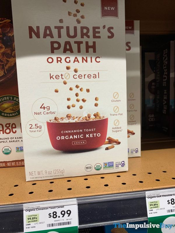 Nature s Path Organic Cinnamon Toast Keto Cereal