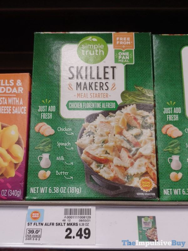 Simple Truth Skillet Makers Meal Starters Chicken Florentine Alfredo