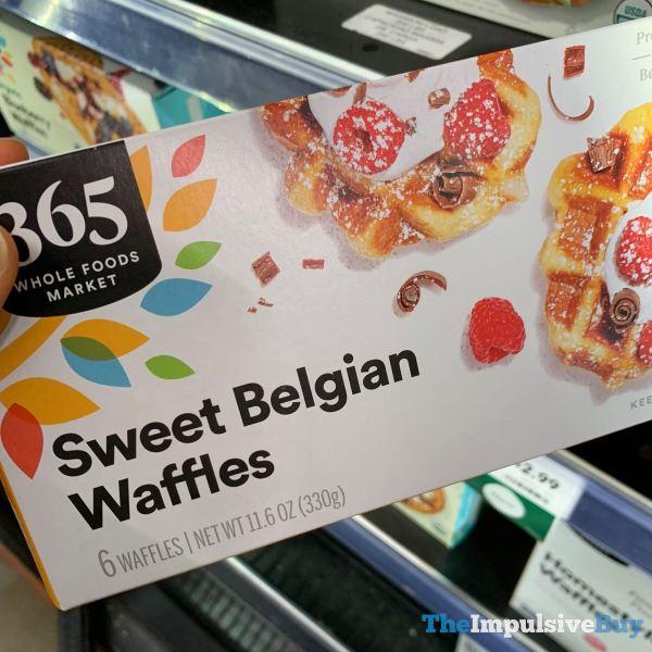 365 Whole Foods Market Sweet Belgian Waffles