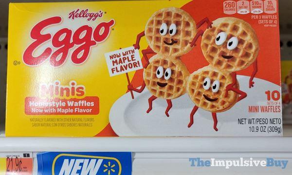 Kellogg s Eggo Minis Homestyle Waffles with Maple Flavor