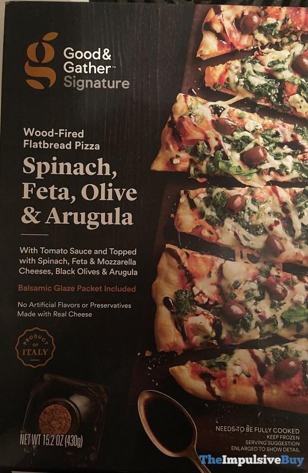 Good  Gather Signature Spinach Feta Olive  Arugula Wood Fired Flatbread Pizza