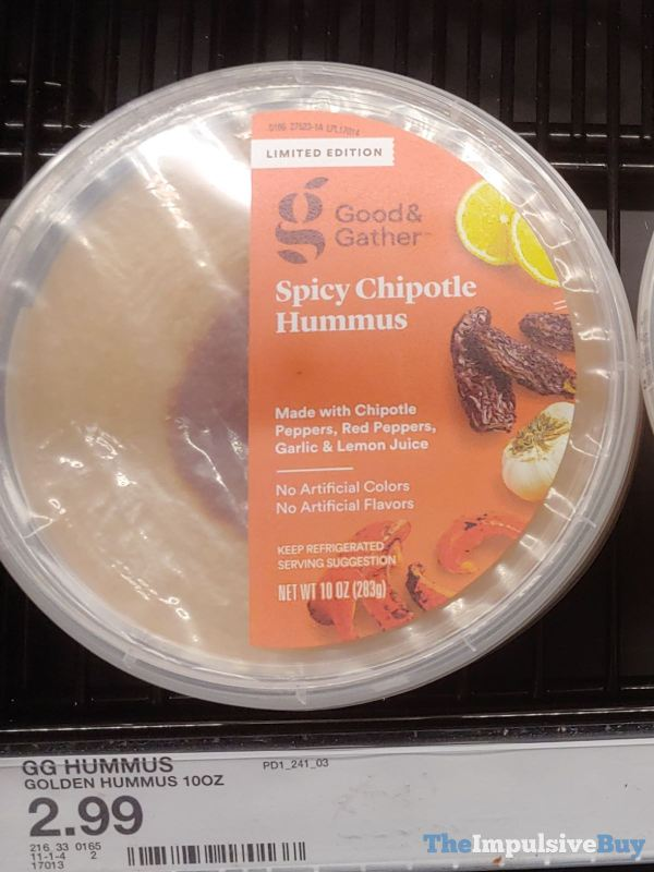 Good  Gather Limited Edition Spicy Chipotle Hummus