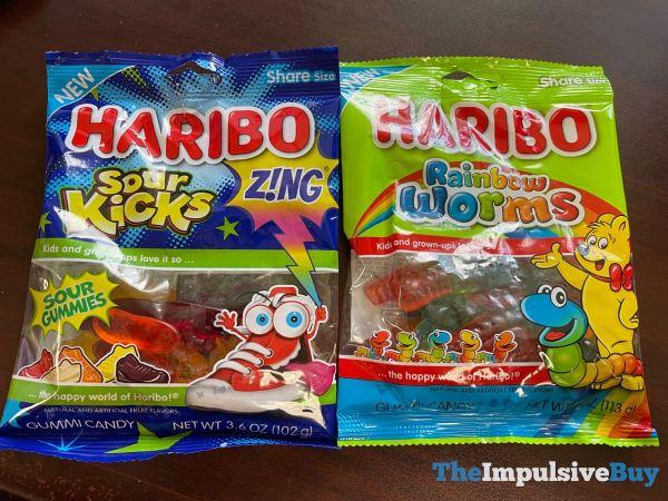 Haribo Sour Kicks and Rainbow Worms
