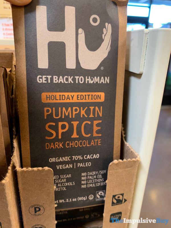 HU Holiday Editioin Pumpkin Spice Dark Chocolate Bar