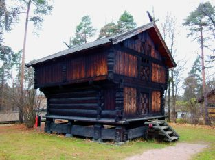 Stave house, Oslo Folk Museum., Norway
