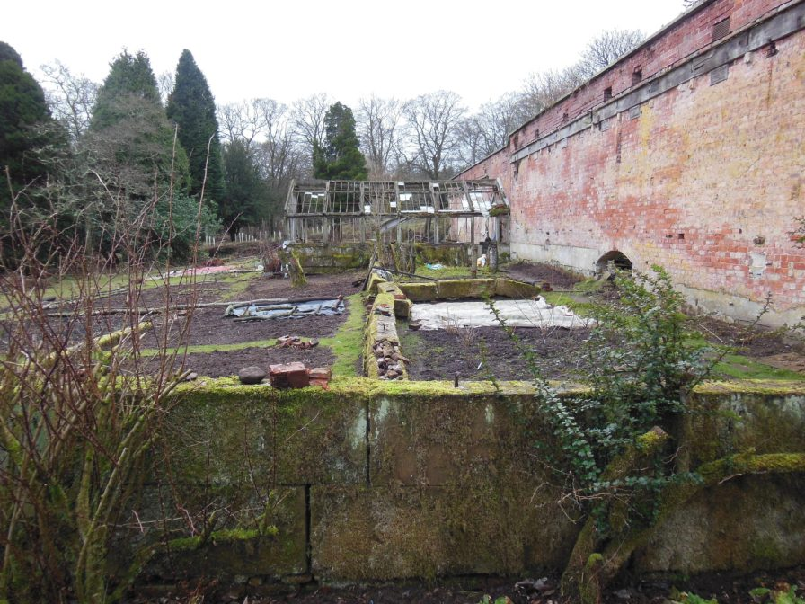 The current food gardens and the last of the hothouses.