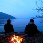 Ashleigh and Nathanael, On the shores of Loch Ness