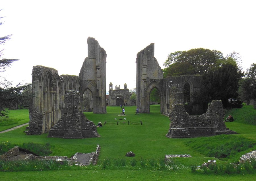 Burial site of King Arthur and Queen Guinevere, Glastonbury Abbey, England
