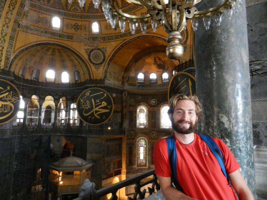 Nathanael in Hagia Sophia, Istanbul, Turkey