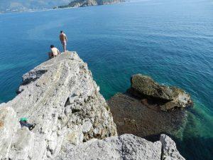 Cliffs off of Mogren Beach, Budva, Montenegro