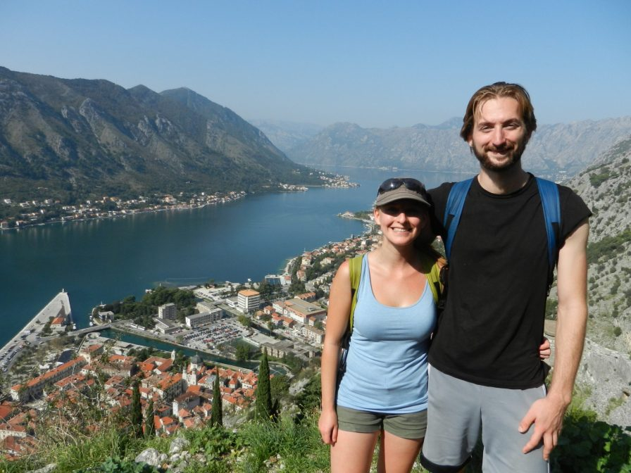 The two of us overlooking the Bay of Kotor, Montenegro