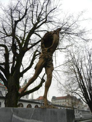 Prometheus, Butcher's Bridge, Ljubljana, Slovenia