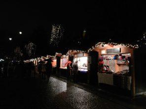 Christmas stalls in Ljubljana, Slovenia