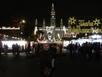 Christmas market at Rathaus, Vienna, Austria