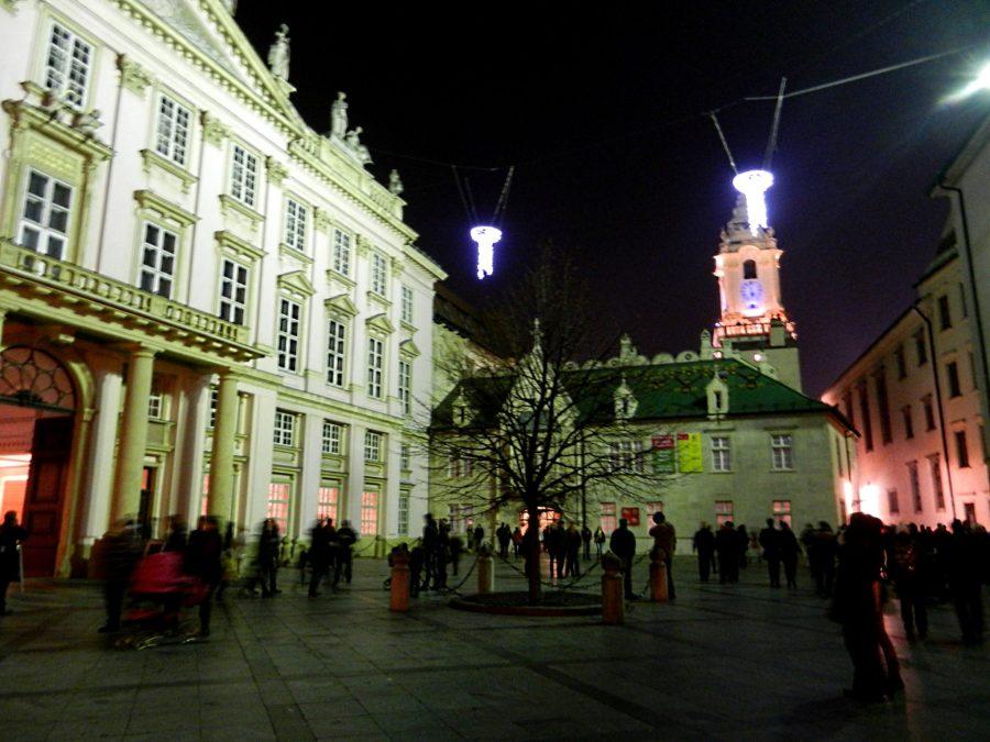 Primate's Palace at night, Bratislava, Slovakia