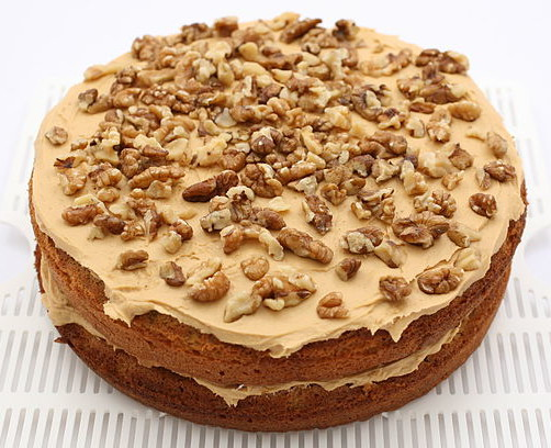 Coffee and Walnut Cake with Coffee Cream