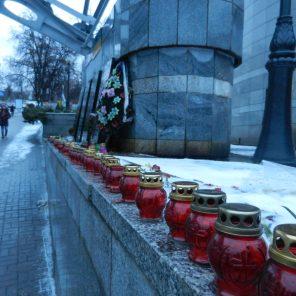 Memorials in Kyiv's Freedom Square, Ukraine