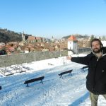 Nathanael at Brasov's Walls, Transylvania, Romania