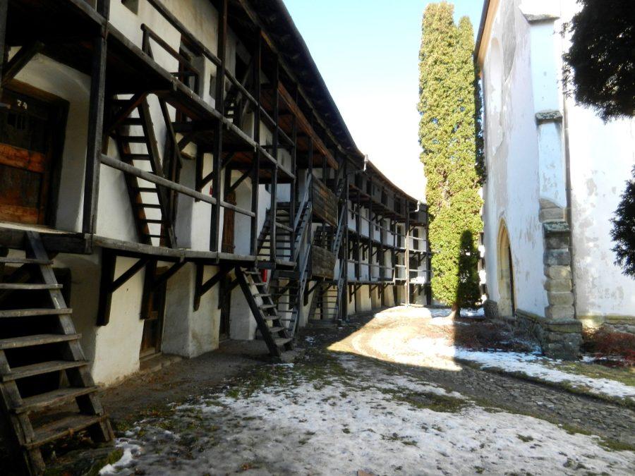 Wall rooms in Prejmer, Romania