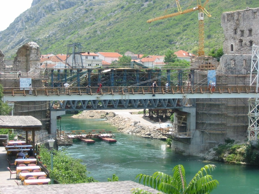 Old Bridge reconstruction in 2003, Mostar, Bosnia