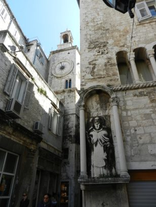 Carving of Saint Domnius, Pjaca Clock Tower, Split, Croatia