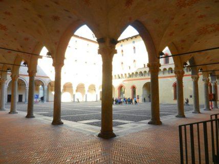 Sforza Castle Courtyard, Milan, Italy